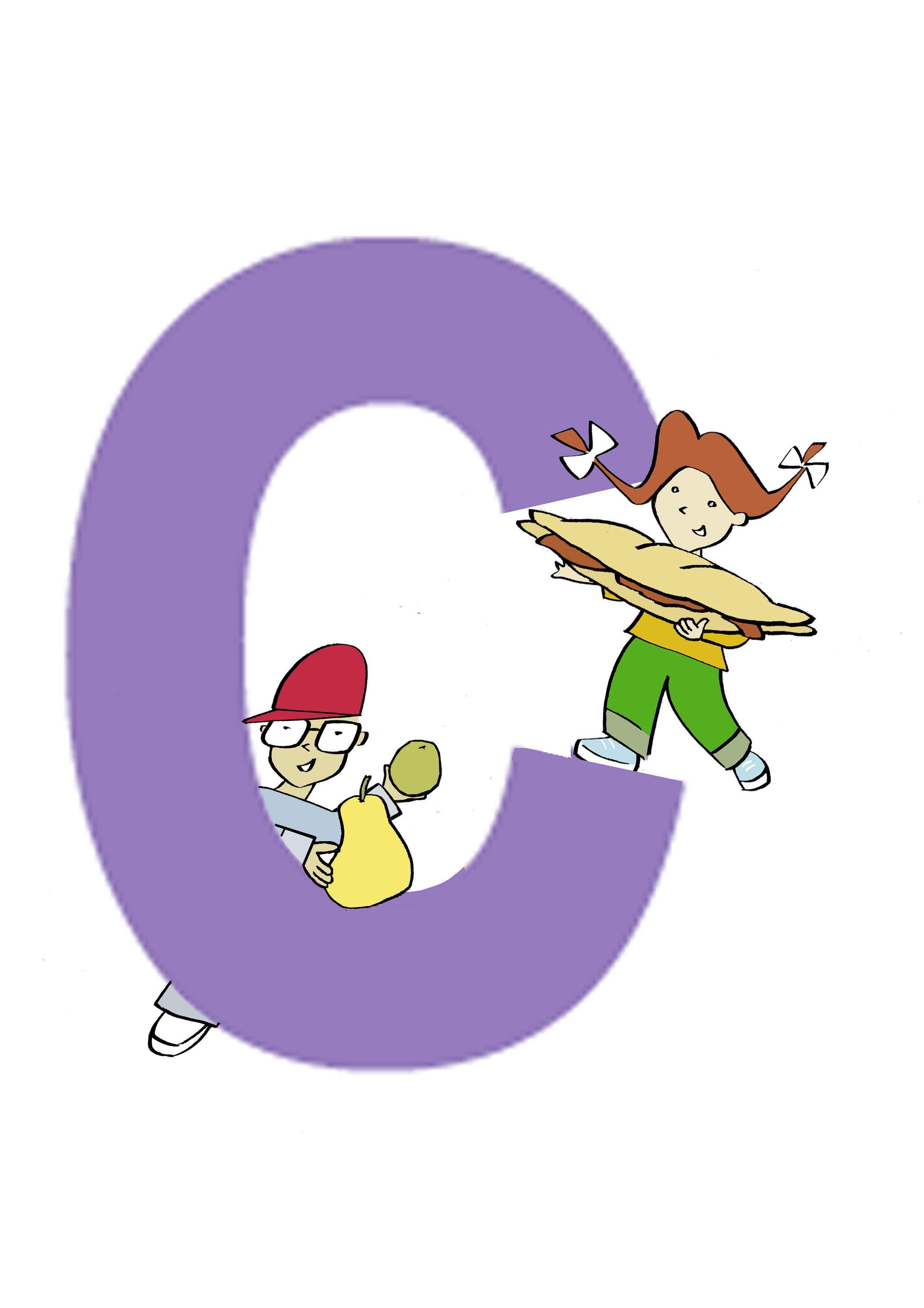 """Poema infantil, hoy la letra """"C""""  Al fondo a la derecha"""